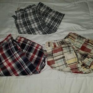 Bundle of three youth boy plaid 16 shorts